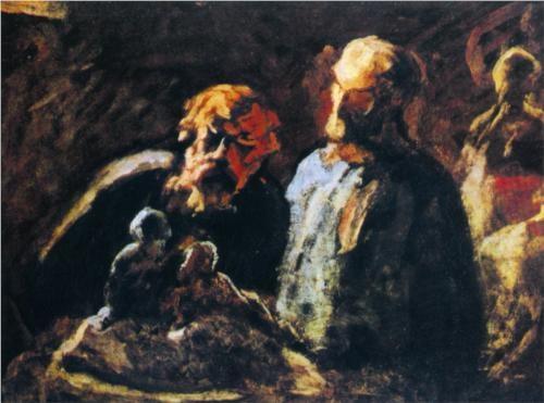 Two Sculptors - Honore Daumier