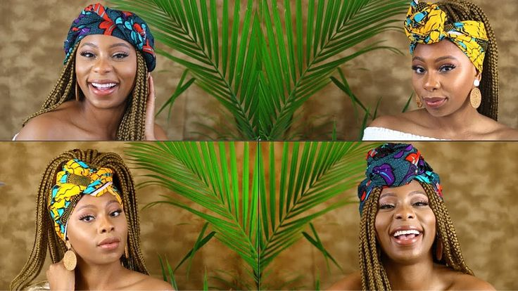 7 Quick and Easy Head Wrap Styles You Need In Your Life | (Box Braids, Twists et…   – YouTube
