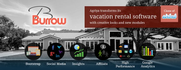 @Agriya #Agriya launches the most powerful and advance rental booking software – Burrow 2.0. Have a look at the front-end and the features of this script.  http://www.youtube.com/watch?v=htdG9MuYDq8&feature