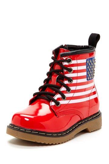 Flag Combat Boot (Little Kid & Big Kid) by Non Specific on @HauteLook