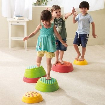 WePlay® Rainbow River Balance Stepping Stones @ childrenstherapystore