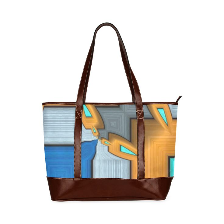 Trendy toote with colors from fall Custom Tote Bag 11 (Two Sides).Trendy toote with colors from fall.  Annabellerockz pattern design