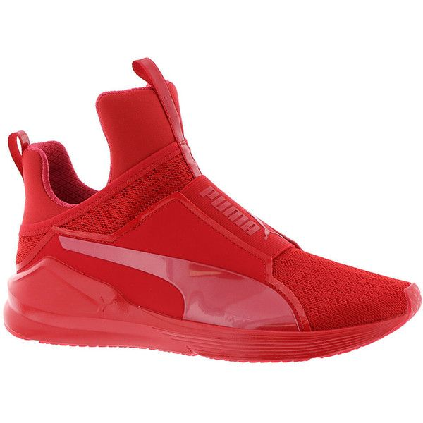 red shoes, red training shoes, slip