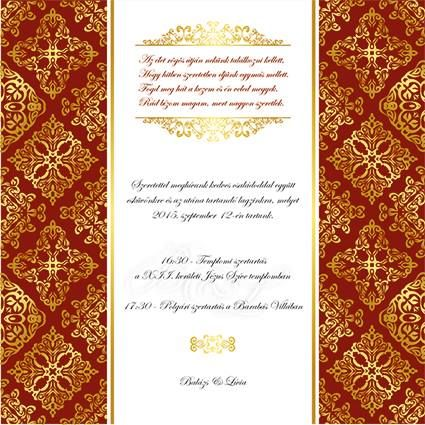 weddign invitation card
