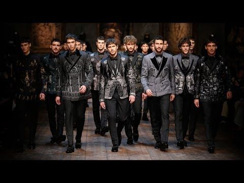 Dolce & Gabbana Man Catwalk Video – Fashion Show Fall Winter 2014 2015  Tak tomu říkám úlet