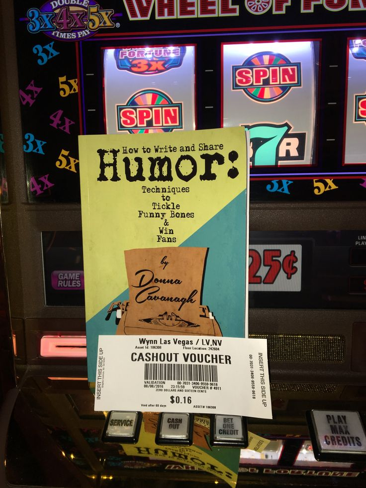 On the #summerofhumor tour.  How to Write and Share Humor checking out the slots in @LasVegas #vegas #humor #funny