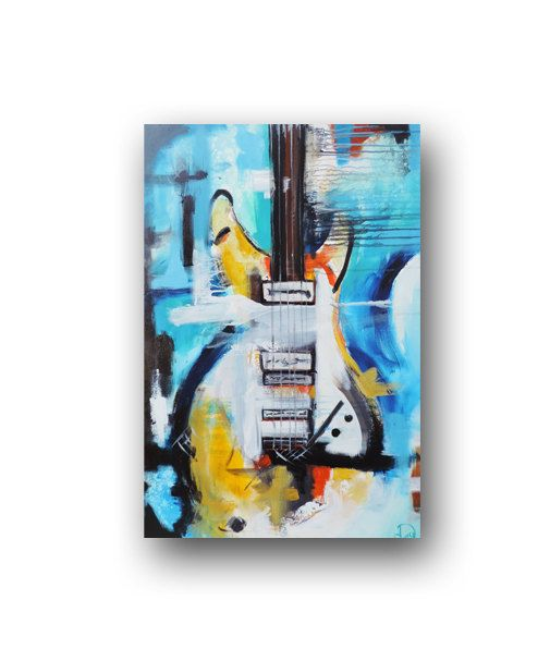 Guitar Painting Painting Abstract Painting by heatherdaypaintings