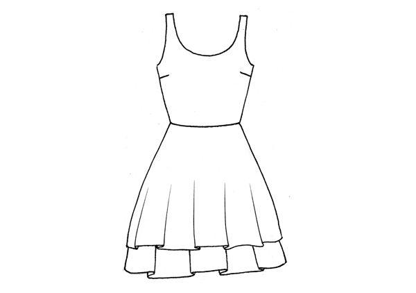 Ändra tröjmönster till klänning.