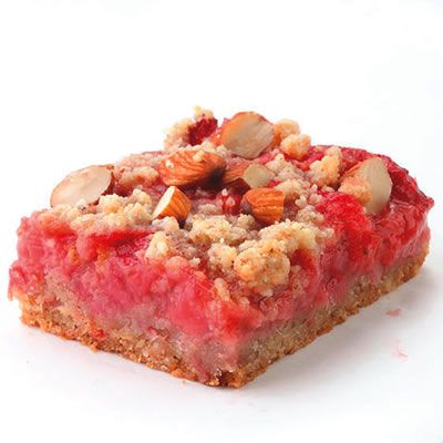 Strawberry-Rhubarb Fruit Bars #StrawberrySeason
