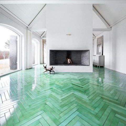 Gyönyörű padló, a trendi zöld színben. :) | SnapWidget