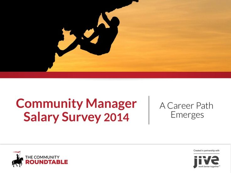 The Community Manager Salary Survey brings more awareness to the emerging career path in community management, detailing what community professionals can expec…