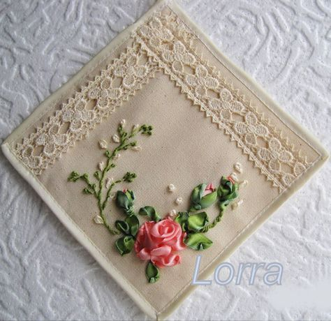 Lovely ribbon work roses