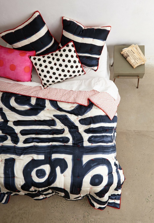 Bedding from Anthropologie by Paola Navone