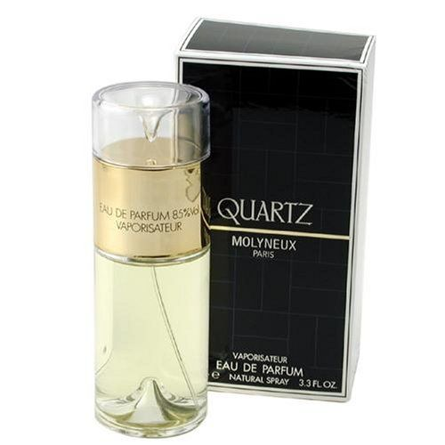 Quartz By Molyneux For Women. Eau De Parfum Spray 3.3 Ounces Packaging for this product may vary from that shown in the image above. This item is not for sale in Catalina Island.