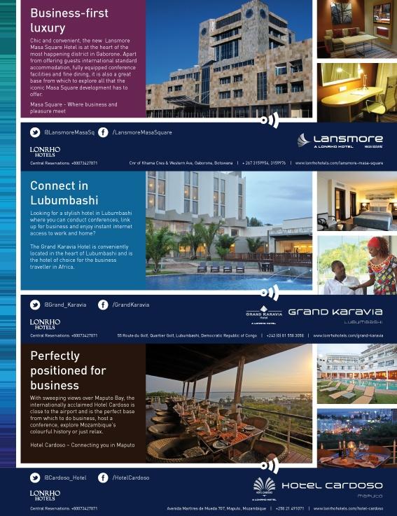 Lonrho Hotels - SA AirLink Ad