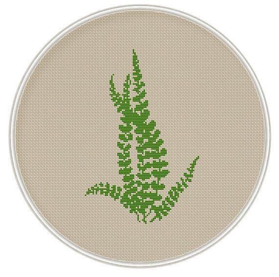 Green leaves cross stitch pattern Instant von MagicCrossStitch