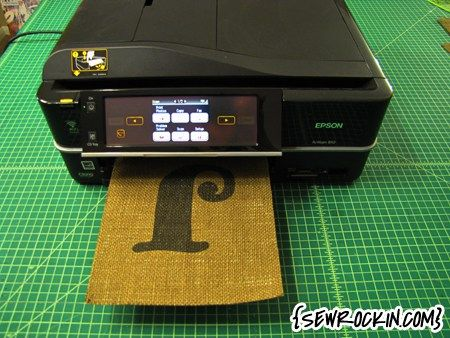 Here's a cool tutorial showing how to use your ink jet printer to print designs directly on burlap. Jamie of Sew Rockin' was kind enough to send this link my way. Check it out — H…