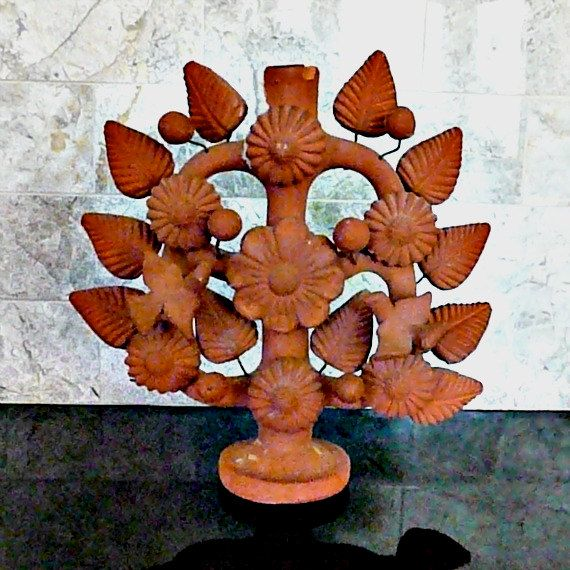 Terra Cotta Tree of Life. Traditional here: Ceramics Historical, Inspiration Ideas, Mexicans Trees Of Life, Handmade Mexicans, 60S Mexicans, Clay Diy Ideas, Ceramics Inspar, Mexicans Art, Ceramics Inspiration