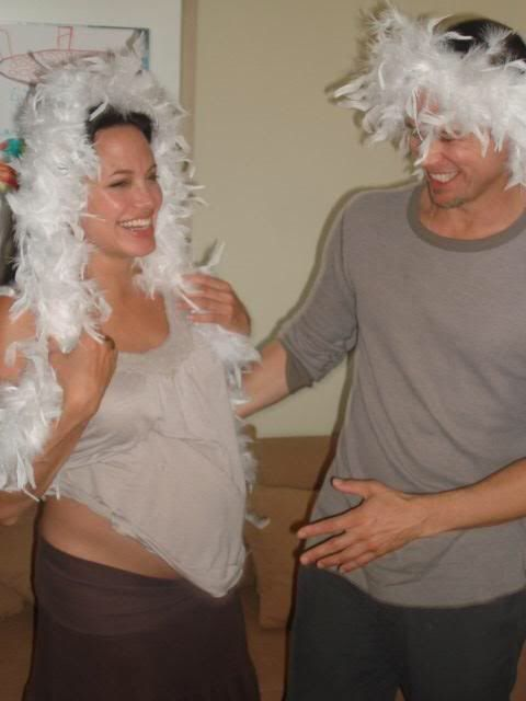 Brad Pitt and pregnant Angelina Jolie ~ 2006