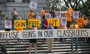 Professors sue University of Texas and state attorney over campus carry laws Students with concealed weapons could threaten academic freedom, three professors argue, as law goes into effect on anniversary of college mass shooting