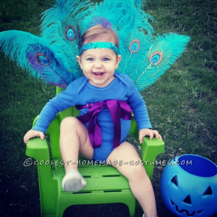 Sparkly Baby Peacock Costume ... Homemade Costume Contest