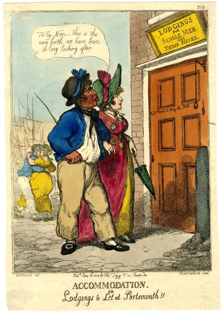 Thomas Rowlandson. Accommodation. Or lodgings to let at Portsmouth! 1808. British Museum.