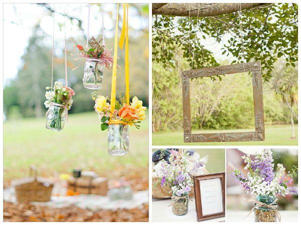 Decoración para celebrar un gran picnic en vez de el tradicional banquete de #boda. #ideas