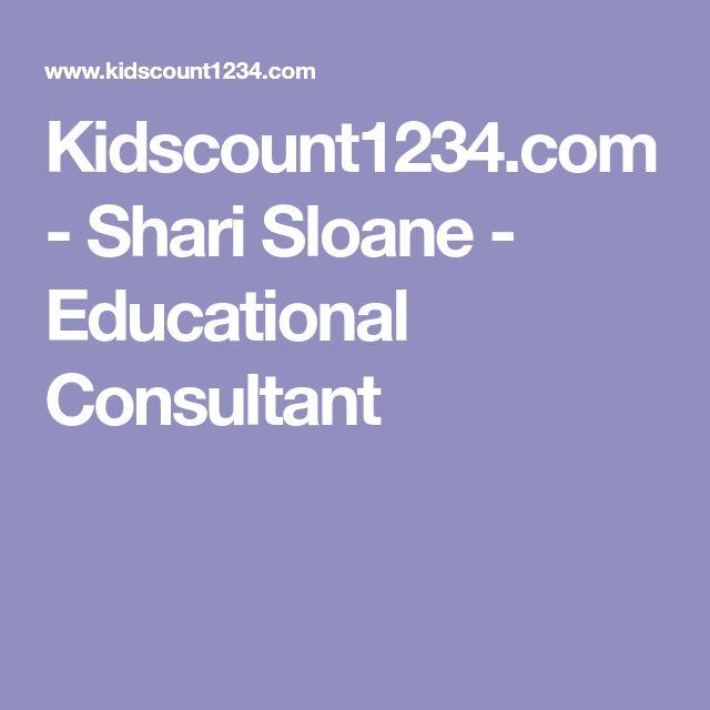 Kidscount1234.com - Shari Sloane - Educational Consultant
