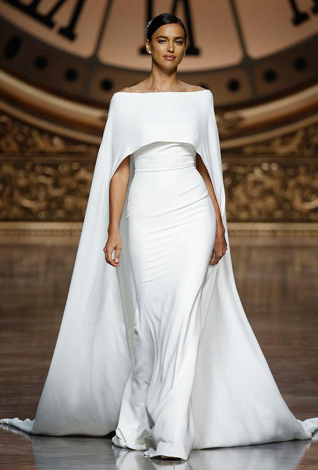 Pronovias Cape Wedding Dress