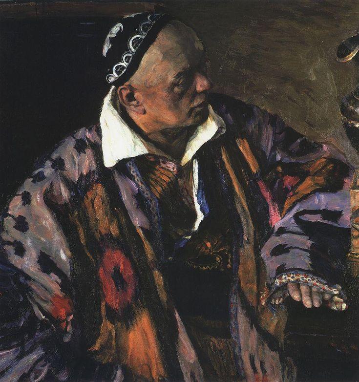Михаил Васильевич Нестеров » Картины, живопись » Портрет архитектора А.В.Щусева. 1941