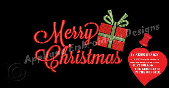 Merry Christmas Embroidery Design-Christmas Embroidery-Gift