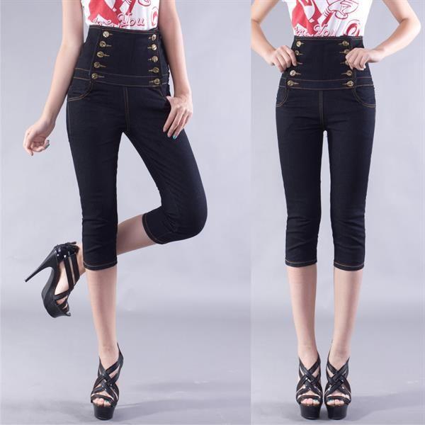 Женские капри джинсы брюки