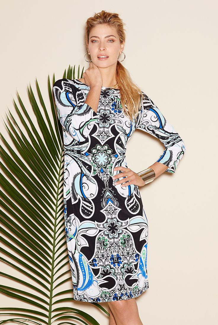 Gypsy Paisley Dress – Travel tip: Go from beach to chic in a patterned shift dress (doubles as a cover-up!)