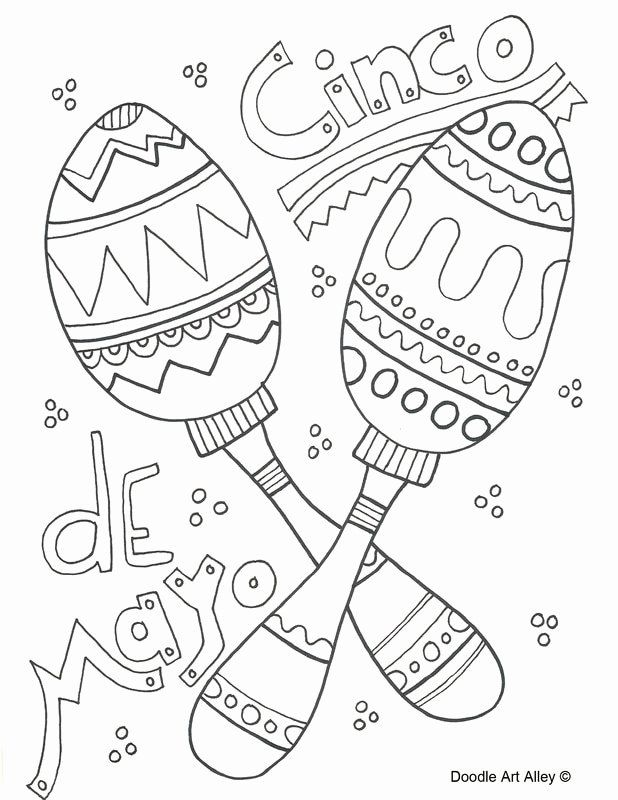 Cinco De Mayo Coloring Page Luxury Cinco De Mayo Coloring Pages Doodle Art Alley Doodle Art Coloring Pages Cinco De Mayo
