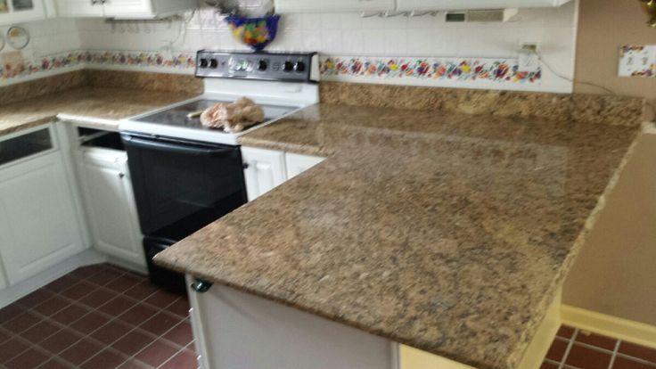 New Venetian Gold Granite Kitchen Countertop Install For The Mink Family Knoxville 39 S Stone