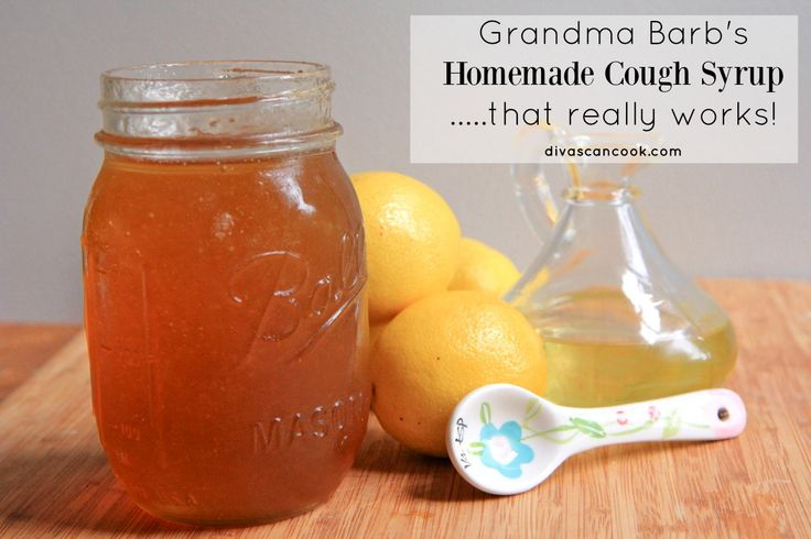 cough syrup.  Honey, lemon juice, olive oil.