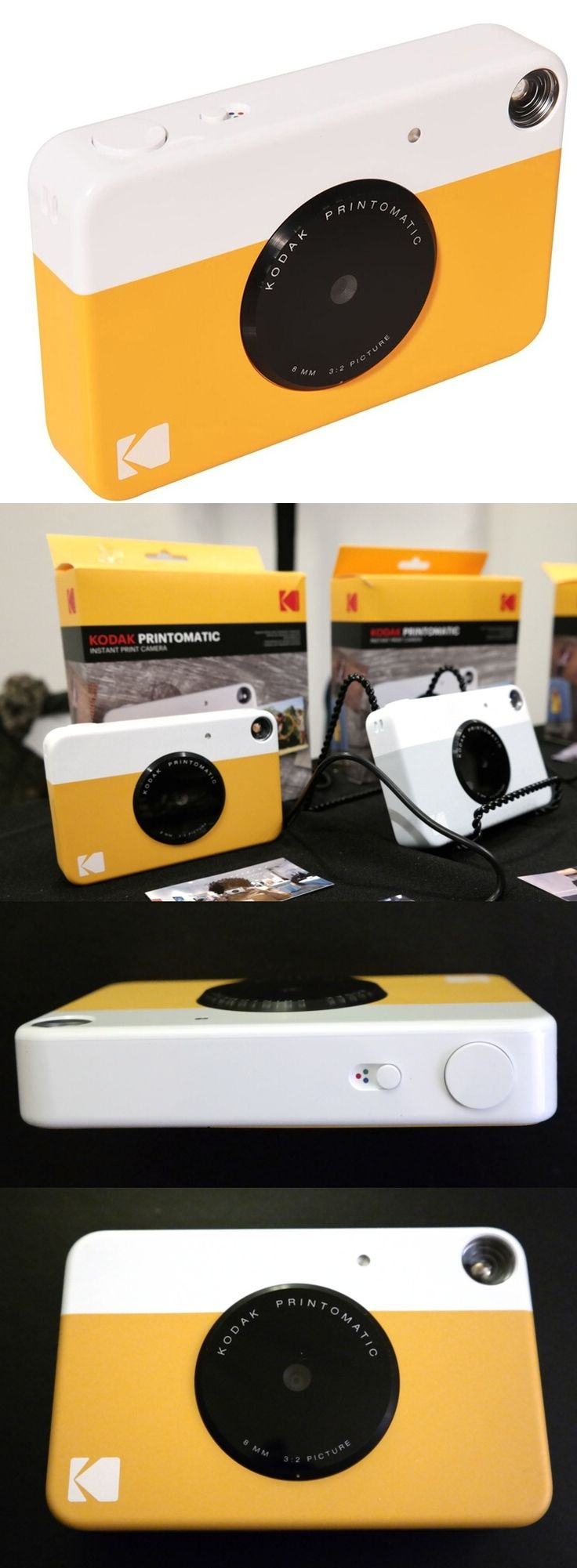 Kodak is back in the instant photo business with the $70 Printomatic Instant Print Camera. The 10-megapixel unit, made under license by C+A Global, yields 2-by-3-inch prints and has a microSD slot for removable memory cards. The Printomatic uses ink-free Zink thermal paper instead of film packs and is simple to use: Frame the subject in the viewfinder and push the shutter button. Kodak left the instant camera business in 1986 after Polaroid won a patent infringement suit. #Pepcom…