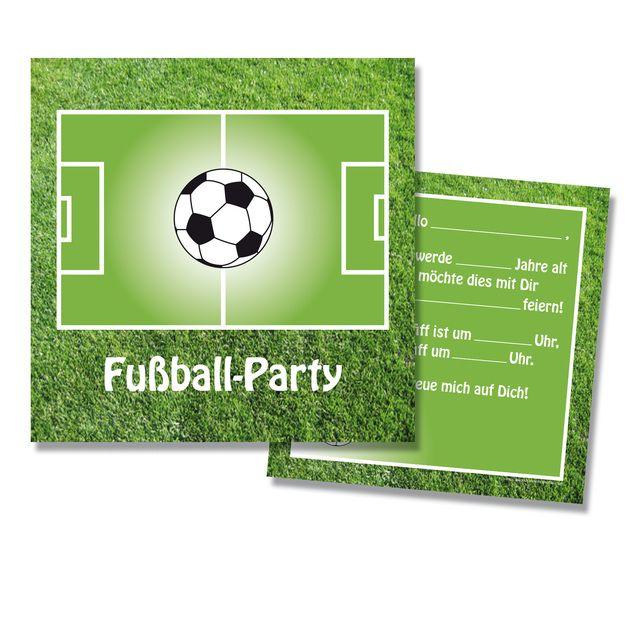 """einladungskarten """"fußball-party"""", 8er set"""