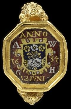 Forget-Me-Not signet ring 1634