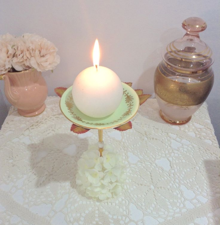 DIY-ROSE PETAL CANDLE HOLDER simple project, quick to complete, inexspensive to make. Only 3 items required to have this beautiful shabby chic inspired Candle Holder