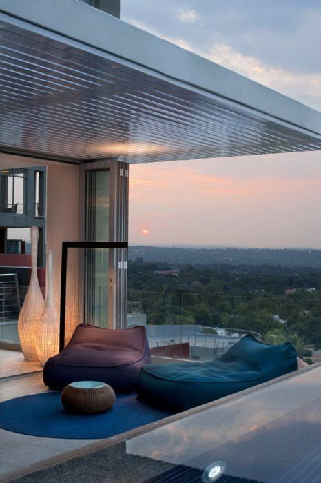 good morning!Lounges Chairs, Dreams Home, Balconies, Interiors, The View, Luxury Penthouse, South Africa, Beans Bags, Outdoor Spaces