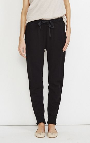 Need these for my trip in the fall. Both stylish and comfortable for the flight.  Jolie French Terry Pant