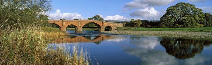 Lazonby bridge over the Eden River, Eden Valley, Cumbria