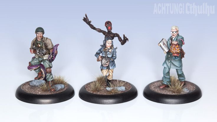 Achtung! Cthulhu Miniatures - Allied Investigators Pack 1 - Modiphius Entertainment