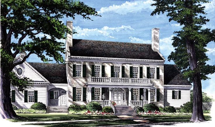Colonial Plantation Southern House Plan 86287