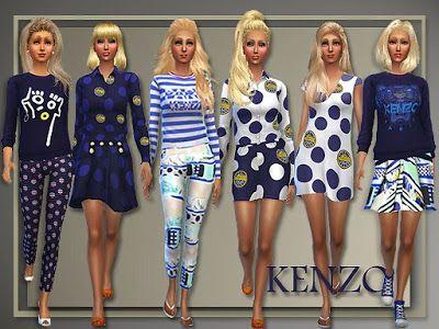 My Sims 4 Blog: Kenzo Spring 2015 for Teen - Elder Females by Judi...