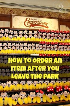 Did you see something in the parks you just have to have but you didn't buy it?  Here's how to get it after the fact!