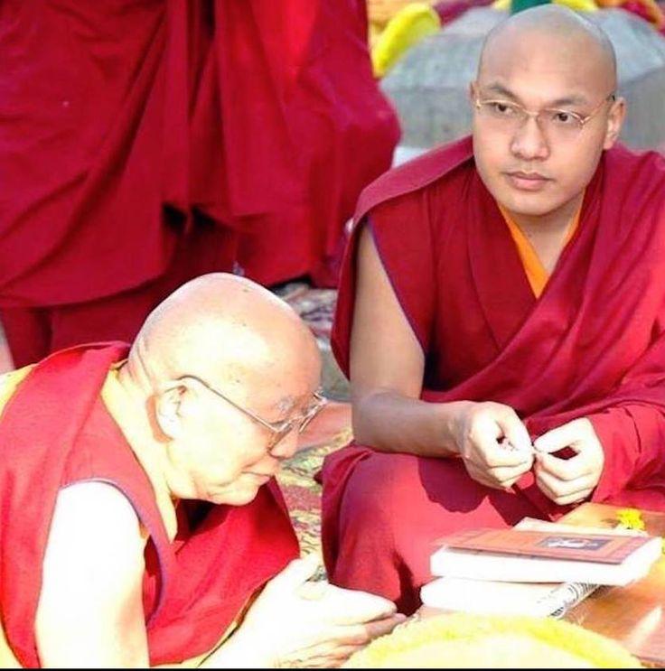 Őszentsége a 17. Karmapa és Kyabje Tenga Rinpoche