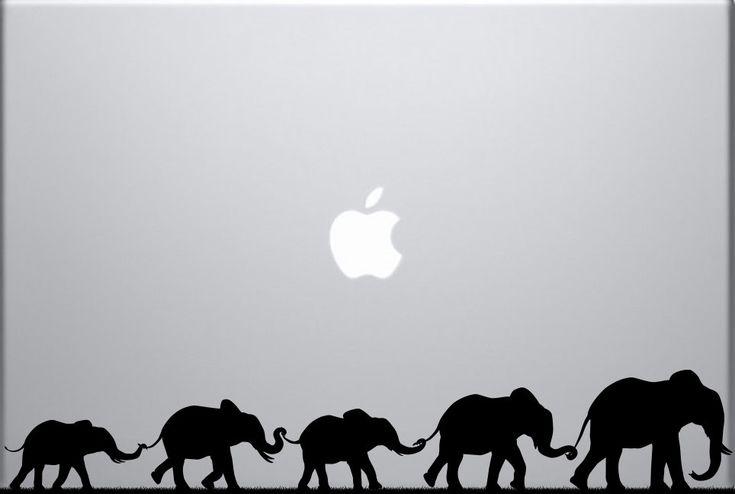 Elephant March decal for laptops by khameleoncustoms on Etsy