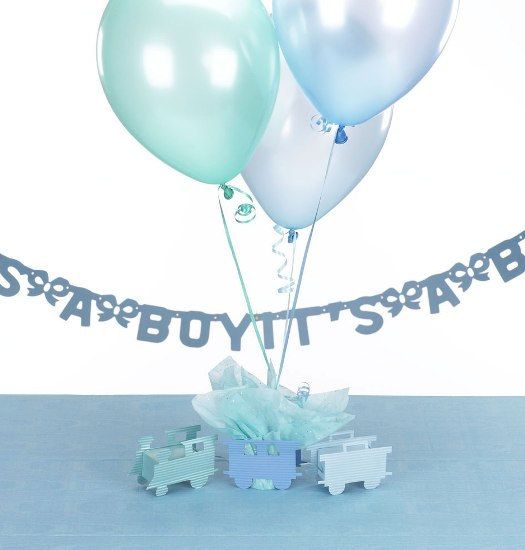 Choo-Choo Train Baby Shower Centerpieces with por SetToCelebrate